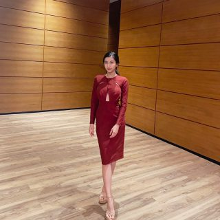 Spotted K.ploy in burgundy #petchployzoered so gorgeous.